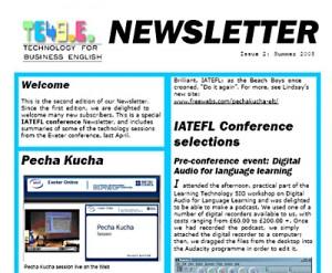te4be Newsletter Summer 2008